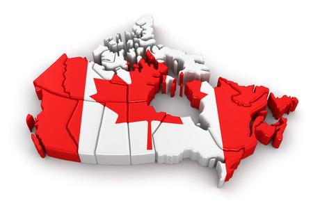 カナダの地図です。