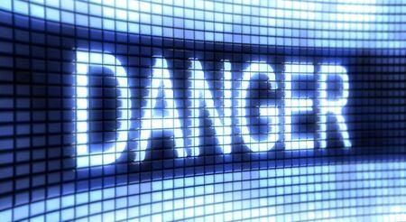 single color image: Panel Danger Stock Photo