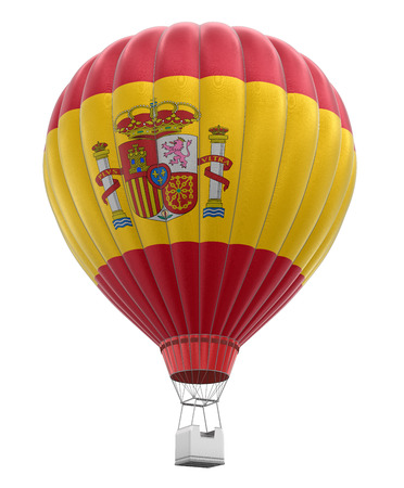 spanish flag: Hot Air Balloon with Spanish Flag