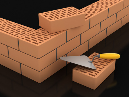 trowel: Bricks and Trowel