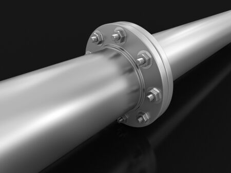 three dimensional accessibility: Pipe fitting clipping path included
