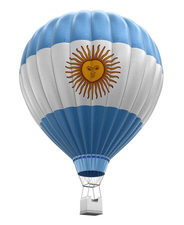 argentinian: Hot Air Balloon with Argentinian Flag clipping path included