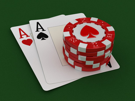 casino table: chips of casino