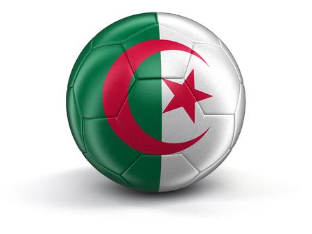 algerian flag: Soccer football with Algerian flag.