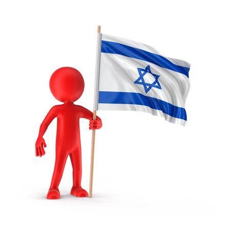 israeli flag: Man and Israeli flag