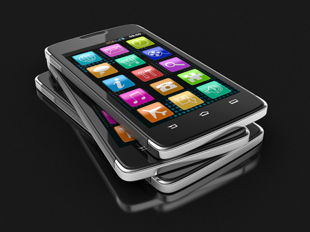 touchscreen: Touchscreen smartphone   Stock Photo