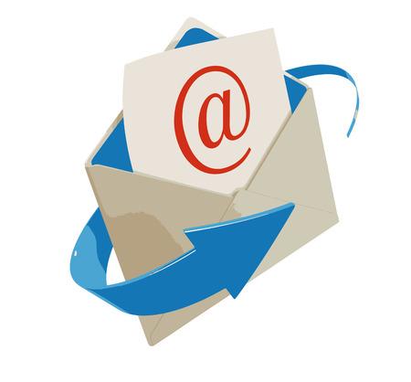 Letter E-mail Illustration