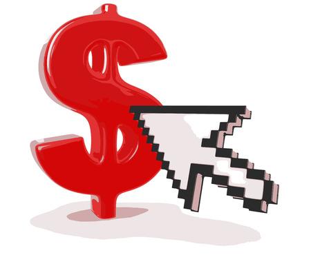 financial figures: Cursor and Dollar Sign