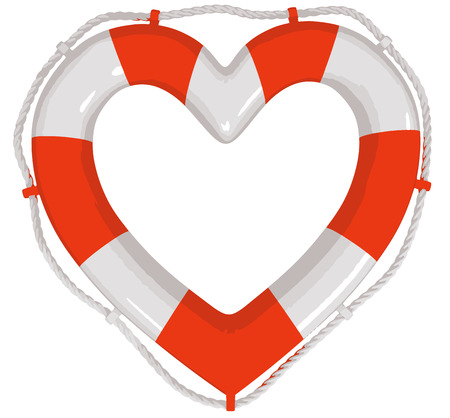 Heart Lifebuoy Illustration
