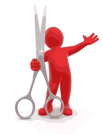 Man and Scissors
