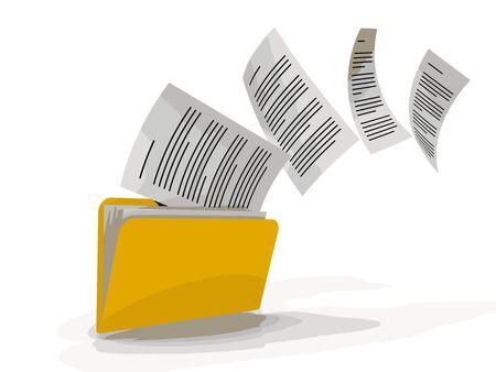 Bestanden kopiëren Vector Illustratie