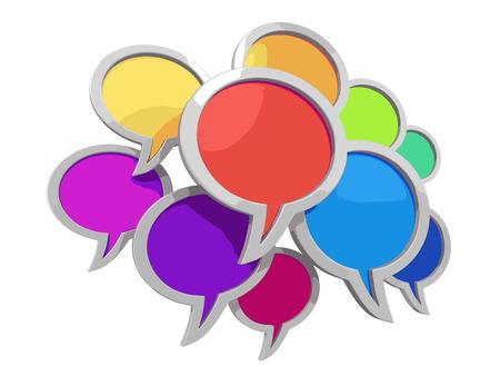 chat room: speech bubbles