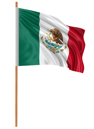 bandera mexicana: Bandera de M�xico 3D  Foto de archivo