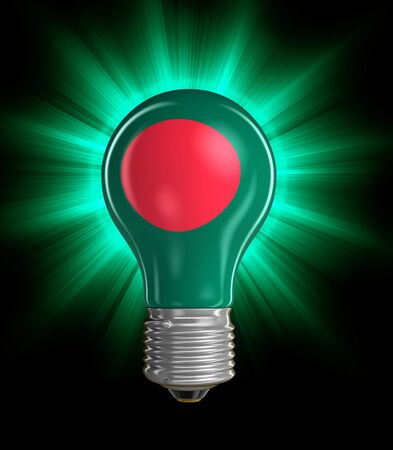 Light bulb with Flag of Bangladesh