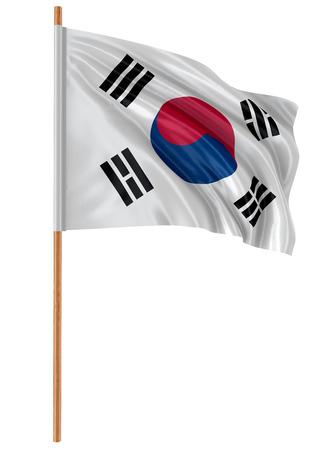 3D South Korean flag