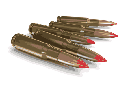 bullets: Bullets clipping path included Illustration