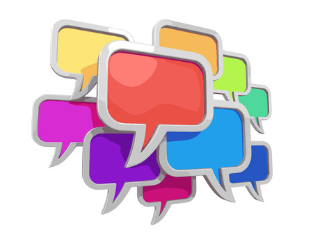 chat room: speech bubbles clipping path included Illustration