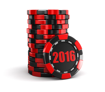 casino: chip of casino 2016 clipping path included
