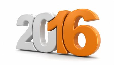 新しい年 2016 年 写真素材
