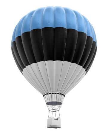 aerospace industry: Hot Air Balloon with Estonian Flag clipping path included