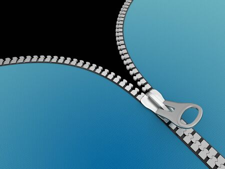 unzipped: Zipper   Stock Photo