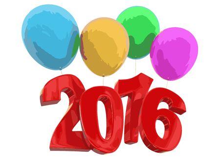 2016 on balloons
