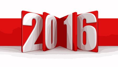 新しい年 2016 年  イラスト・ベクター素材