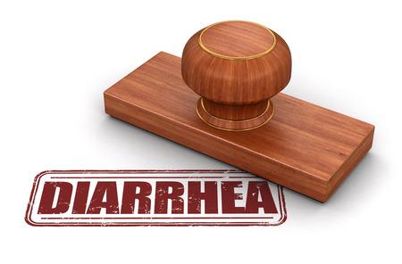 diarrhea: Stamp Diarrhea.  Image with clipping path