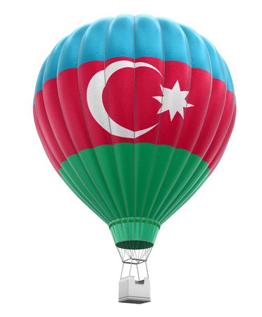 azerbaijani: Hot Air Balloon with Azerbaijani Flag clipping path included Stock Photo