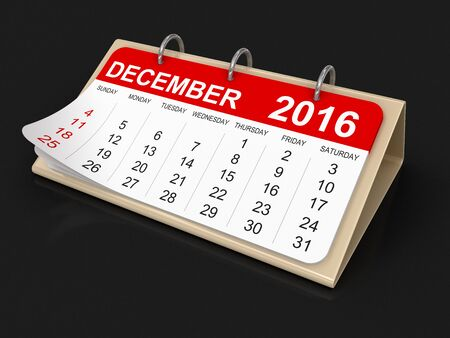 december: Calendar -  december 2016 clipping path included