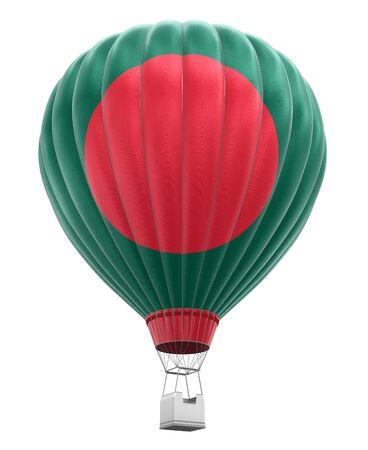 bangladesh 3d: Hot Air Balloon with Bangladeshi Flag clipping path included