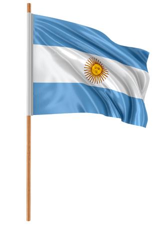bandera argentina: Camino de recortes del indicador 3D Argentina incluido Foto de archivo