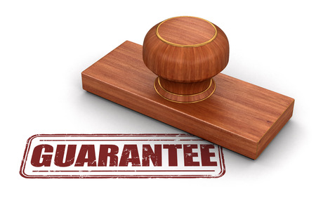 surety: Stamp Guarantee.  Image with clipping path