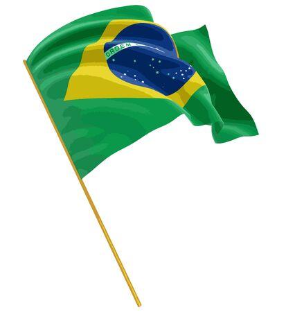 brazil flag: Brazilian flag Illustration