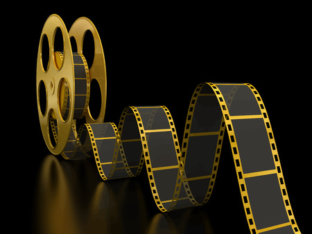 movie screen: Film Strip Illustration