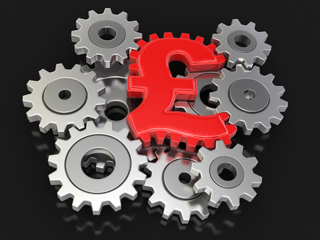 included: Cogwheel pound clipping path included Stock Photo