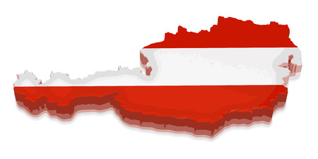 physical geography: Map of Austria Illustration