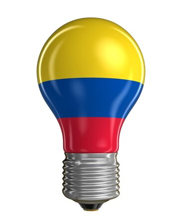 colombian flag: Light bulb with Colombian flag