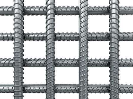 armature: Grid of the Building armature. Image with clipping path Stock Photo