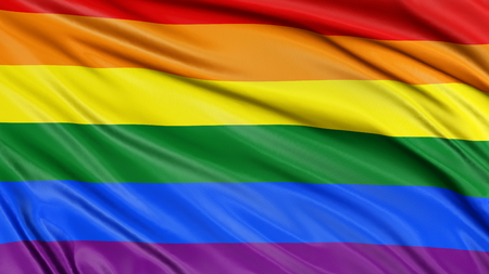 3d rainbow: Rainbow Gay Pride Flag Stock Photo
