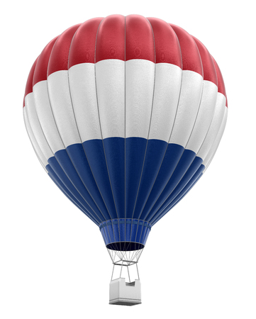 hot air: Hot Air Balloon with Netherlands Flag clipping path included
