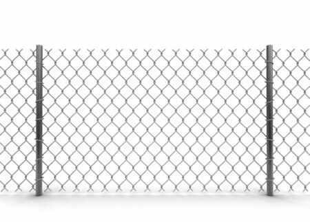 territorial: Chainlink fence. Image with clipping path Stock Photo