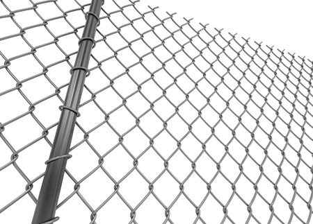 chainlink: Chainlink fence. Image with clipping path Stock Photo