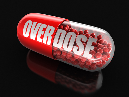 included: Pill Overdose clipping path included Stock Photo