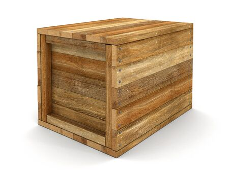 crate: Wooden crate clipping path included