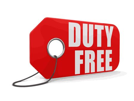 toll free: Label duty free