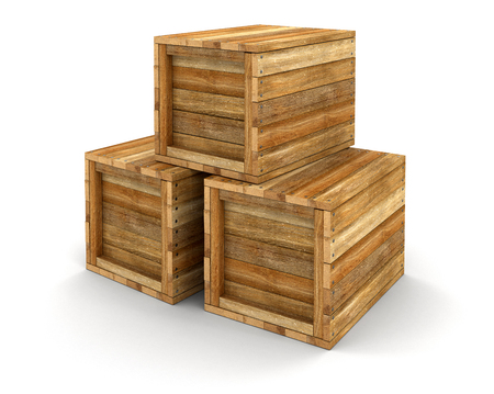 crates: Wooden crates clipping path included