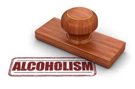 alcoholismo: Sello alcoholismo. Imagen con trazado de recorte Foto de archivo