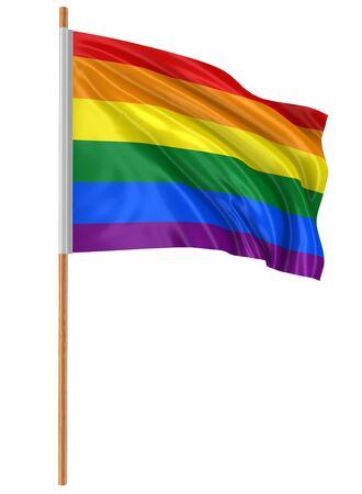arco iris: Trazado de recorte del arco iris Bandera del orgullo gay incluido