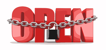 slavery: open and lock Illustration